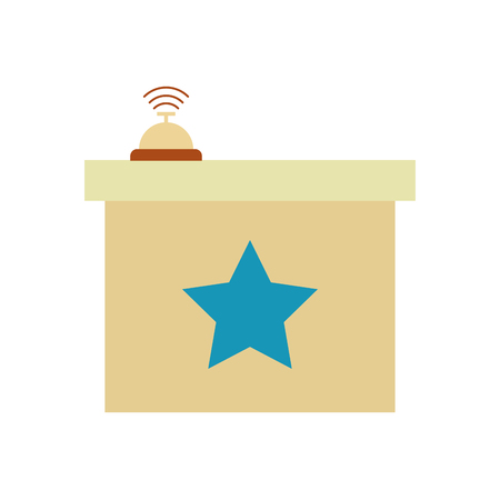 button bell isolated icon vector illustration design Illustration