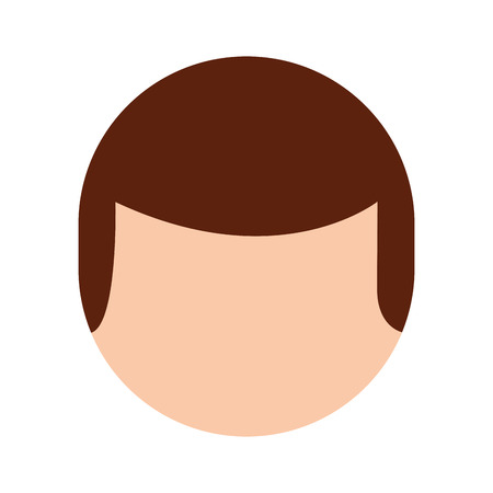 young man head avatar character vector illustration design Ilustracja