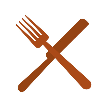 fork and knife cutlery vector illustration design