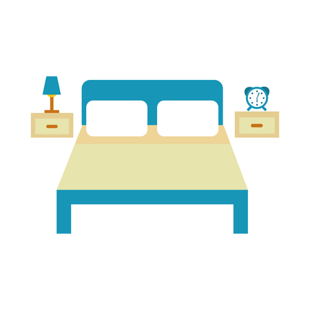 bed hotel with nightstand vector illustration design Stock Vector - 83133508