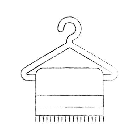 towell hangin in wire hook vector illustration design Ilustração
