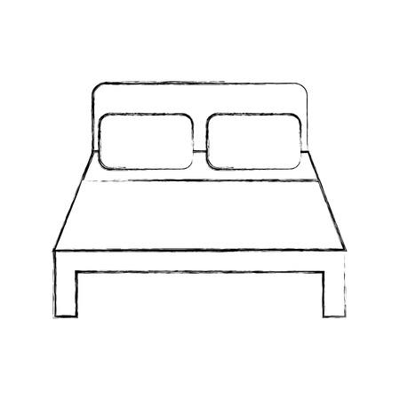 ベッド ホテル分離アイコン ベクトル イラスト デザイン