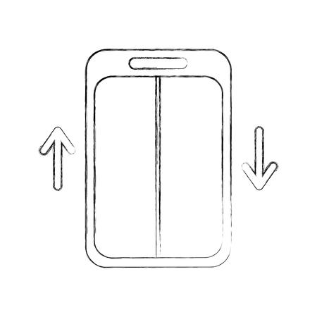 エレベーター サービス分離のアイコン ベクトル イラスト デザイン
