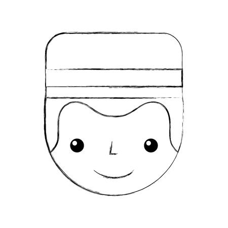 Boybell avatar caractère icône illustration vectorielle design Banque d'images - 83133655