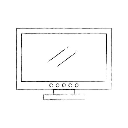tv plasma isolated icon vector illustration design