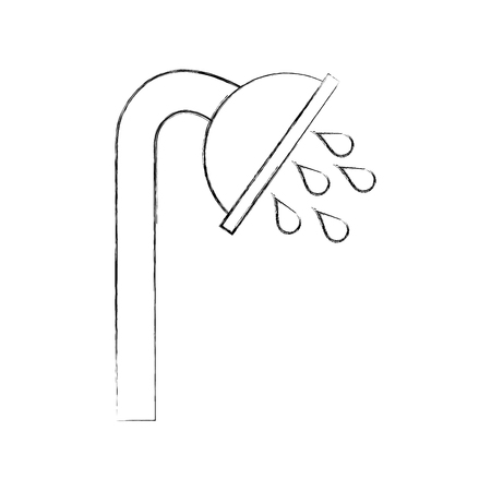 シャワーのタップ絶縁アイコン ベクトル イラスト デザイン 写真素材 - 83133996