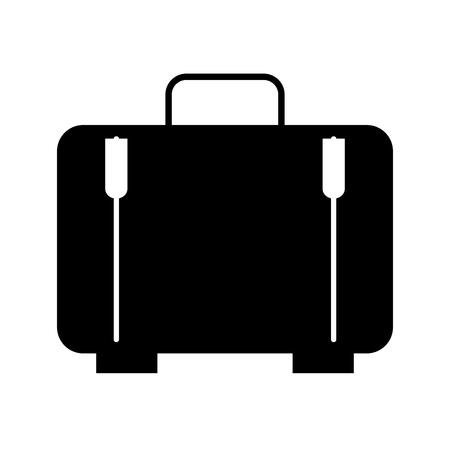 suitcase travel isolated icon vector illustration design Banco de Imagens - 83137217
