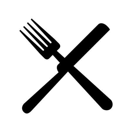フォークとナイフのカトラリー ベクトル イラスト デザイン  イラスト・ベクター素材