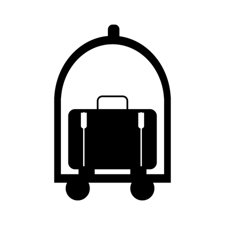 luggage carrier: suitcase carrier isolated icon vector illustration design