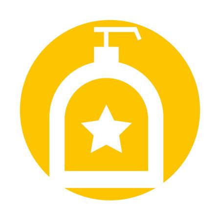 soap dispenser bottle icon vector illustration design Stock Vector - 83138560
