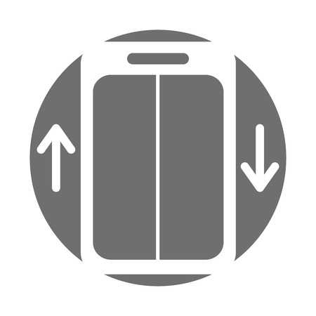 elevator service isolated icon vector illustration design Illustration