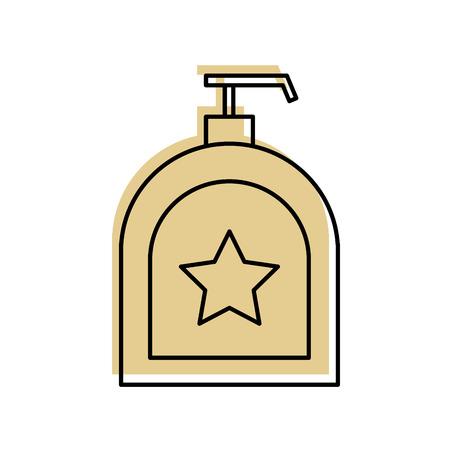 zeep dispenser fles pictogram vector illustratie ontwerp