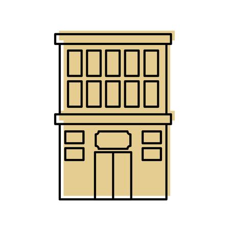 hotel building isolated icon vector illustration design Banco de Imagens - 83139148