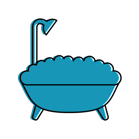 bathtub service isolated icon vector illustration design Ilustração
