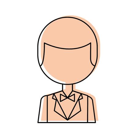 Hombre elegante con diseño de ilustración vectorial bowntie Foto de archivo - 83139388