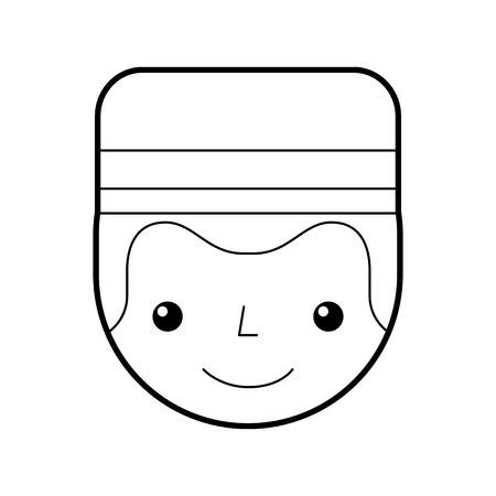 Boybell avatar caractère icône illustration vectorielle design Banque d'images - 83139922