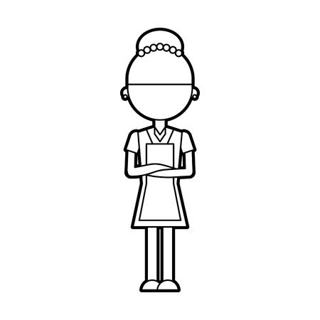Housekeeper avatar character icon vector illustration design 向量圖像