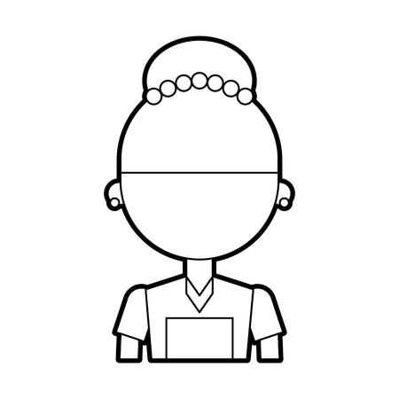 Housekeeper avatar character icon vector illustration design Ilustração