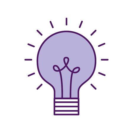 Birne Licht isoliert Symbol Vektor-Illustration , Design , Standard-Bild - 83139996