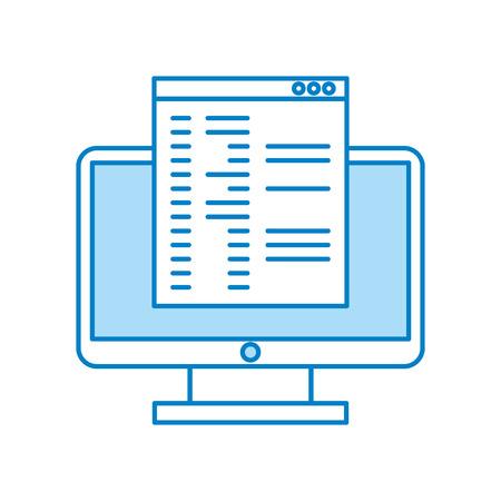 computer desktop with template vector illustration design