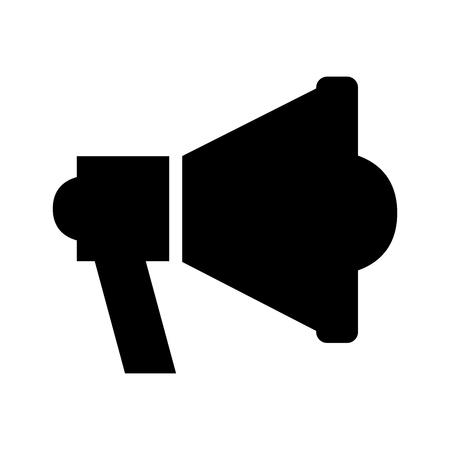 Mégaphone sound isolé icône du design illustration vectorielle Banque d'images - 83140226