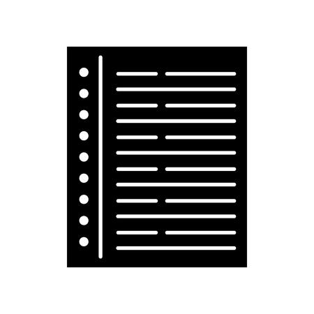 Notizbuch Blatt isoliert Symbol Vektor-Illustration Design Standard-Bild - 83140233