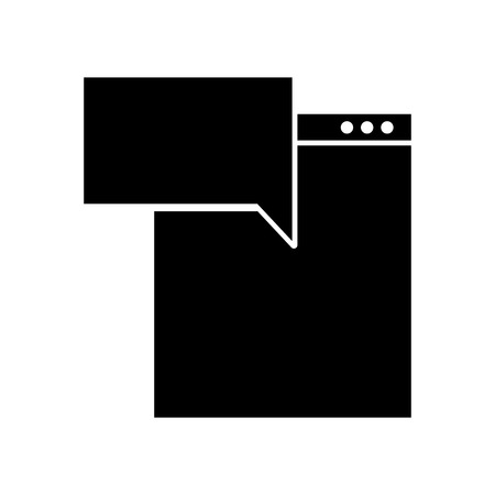 template computer with speech bubble vector illustration design Illustration
