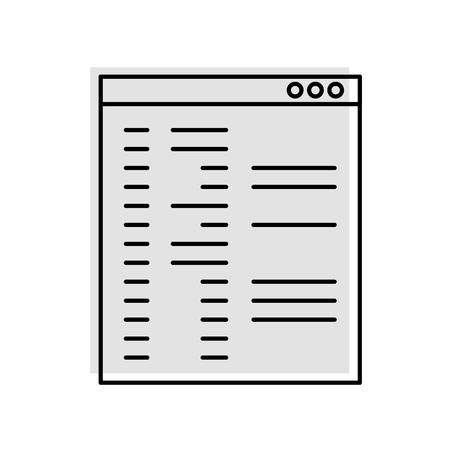 Computation template  isolated icon vector illustration design