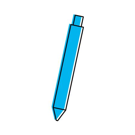 writing instruments: pen school isolated icon vector illustration design