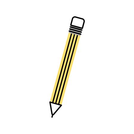 学校分離された鉛筆アイコン ベクトル イラスト デザイン