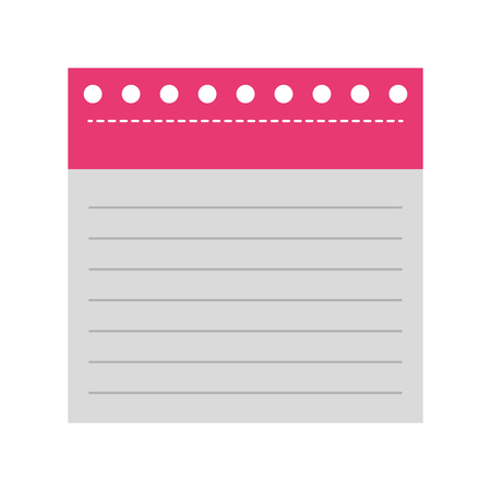 notebook sheet isolated icon vector illustration design