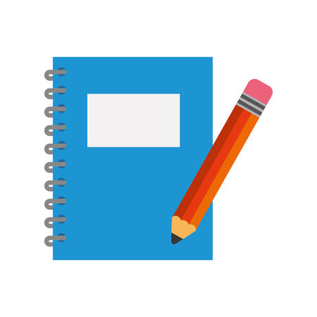notebook school with pencil vector illustration design Illustration