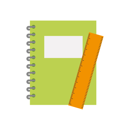 notebook school with rule vector illustration design