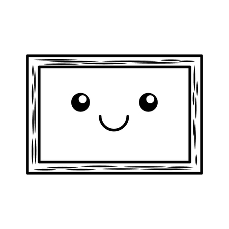 chalkboard school kawaii character vector illustration design Illustration
