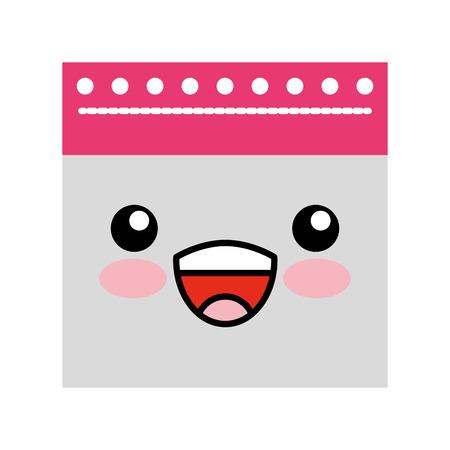 notebook sheet kawaii character vector illustration design Stock Vector - 83171248