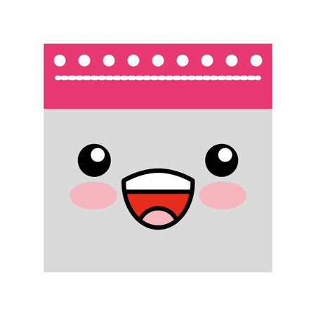 notebook sheet kawaii character vector illustration design
