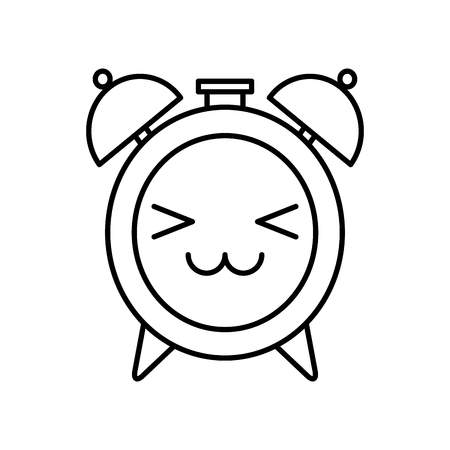 alarm clock kawaii character vector illustration design