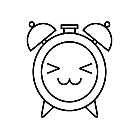 Icono De Reloj De Alarma En Estilo De Cómic Sobre Un Fondo Blanco ...
