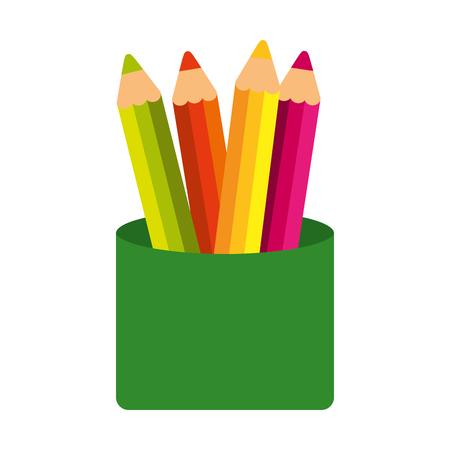 progettazione dell'illustrazione di vettore dell'icona isolata colori della scuola