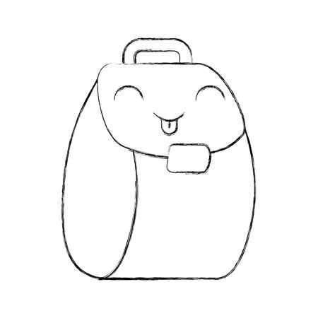 schooltas karakter vector illustratie ontwerp Stock Illustratie