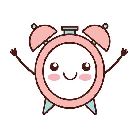 alarm clock character vector illustration design
