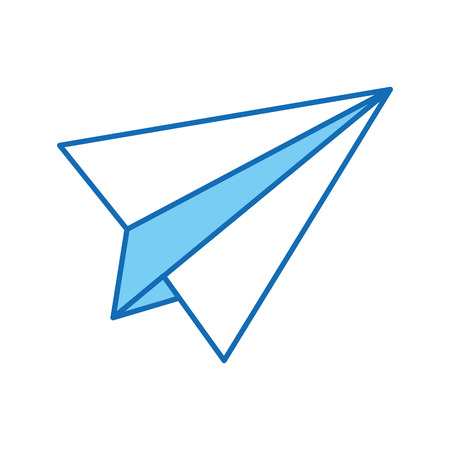 Papier vliegtuig geïsoleerd pictogram vector illustratie ontwerp Stockfoto - 83171343