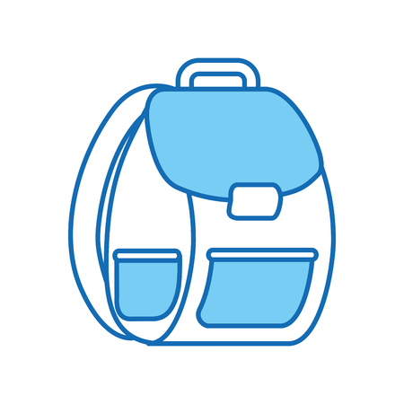 school bag isolated icon vector illustration design Stock Vector - 83171553