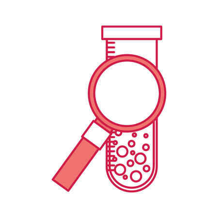 magnifying glass with tube test vector illustration design