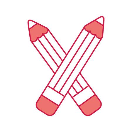 pencil school supply icon vector illustration design 向量圖像