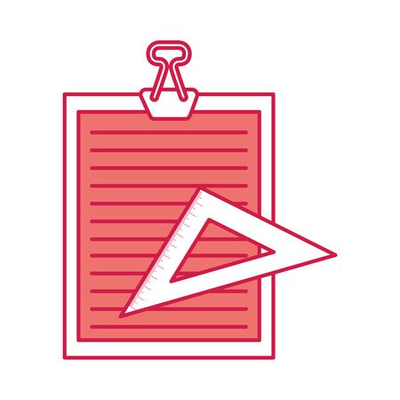 clipboard paper with rule vector illustration design Illustration