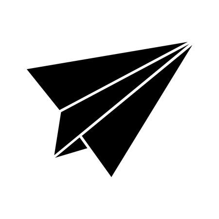 Papier vliegtuig geïsoleerd pictogram vector illustratie ontwerp Stockfoto - 83172627