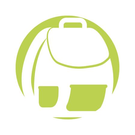 schooltas geïsoleerde pictogram vectorillustratieontwerp Stock Illustratie