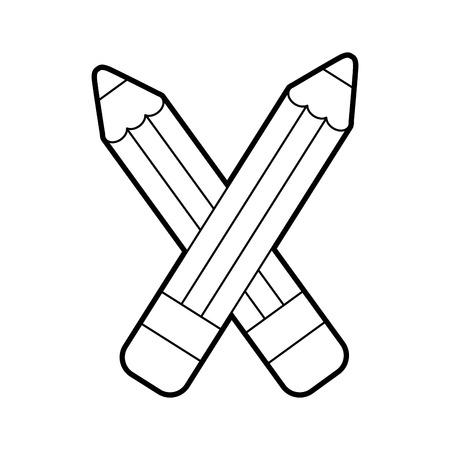 pencil school supply icon vector illustration design Illustration