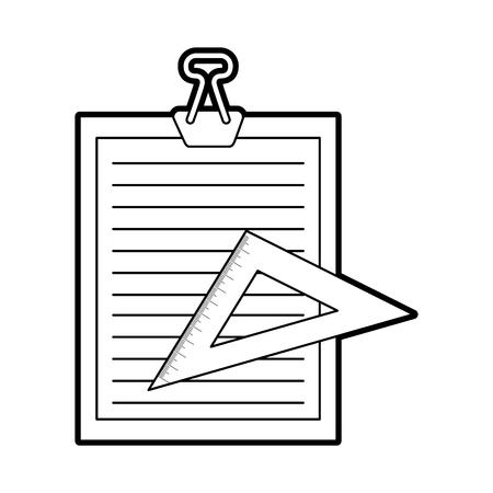 klembord papier met regel vector illustratie ontwerp